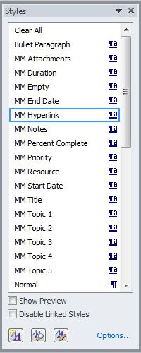 MM styles in Word v2