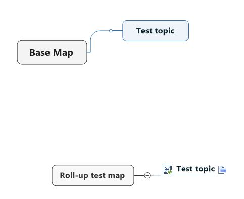 Basic example of a dashboard map with roll-up